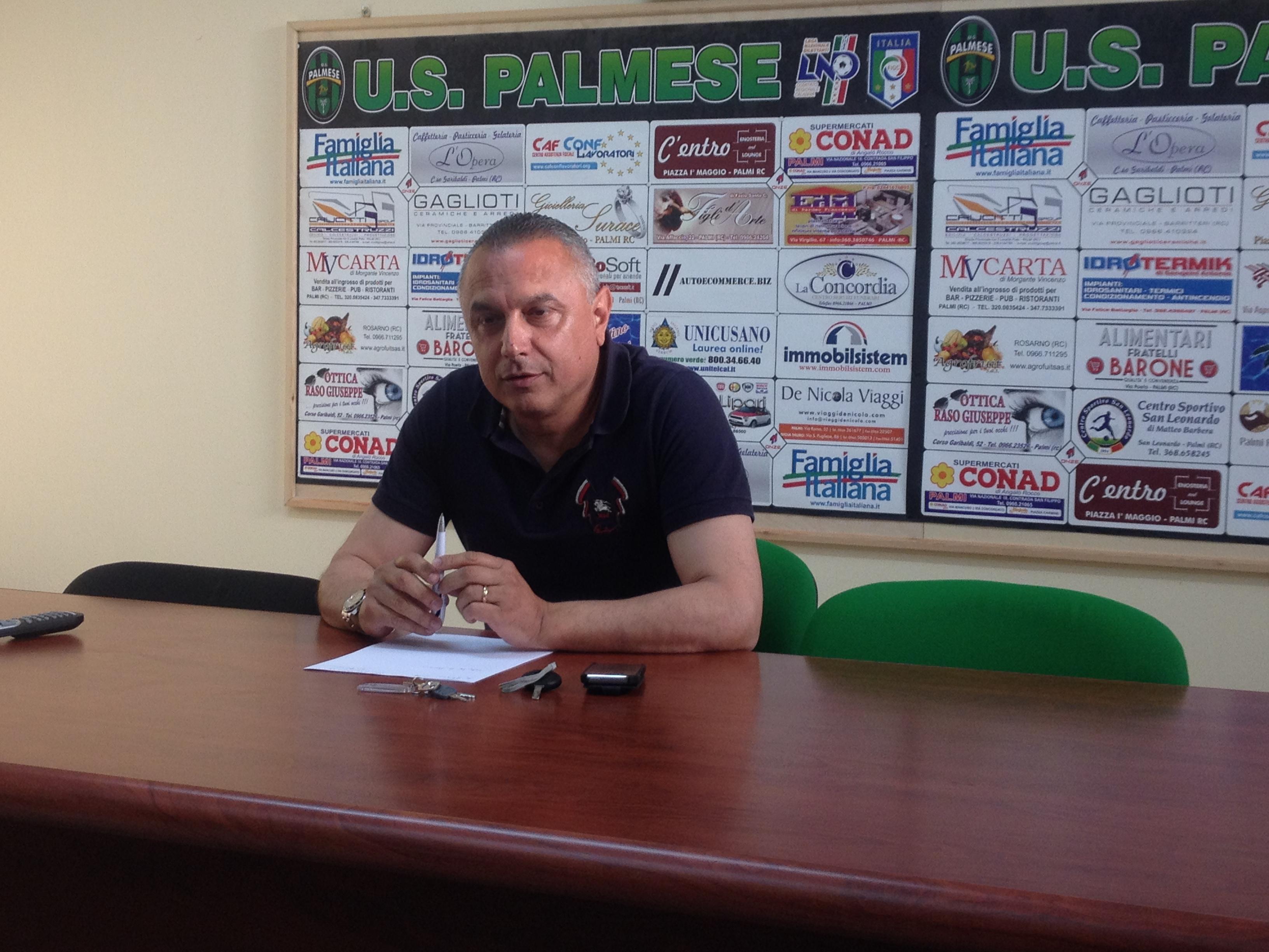 Il presidente della Palmese Pino Carbone