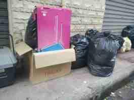 La spazzatura per strada