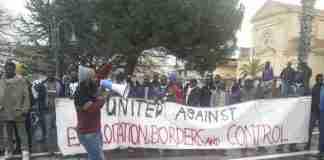 La manifestazione dei migranti
