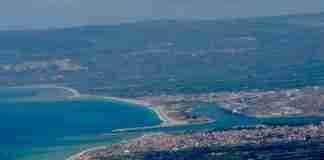 Panoramica della città di Gioia Tauro con il porto