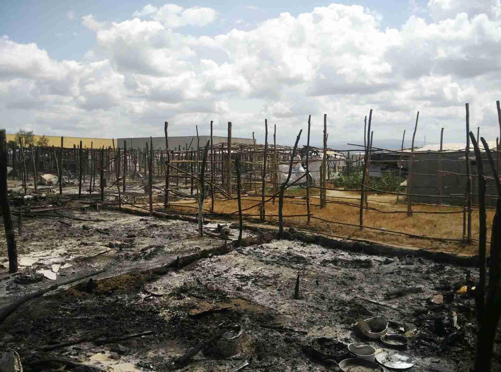 SAN FERDINANDO (Rc). Incendio tendopoli migranti, prefetto: stiamo lavorando a soluzione rapida