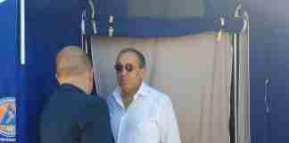 Il prefetto Di Bari alla tendopoli