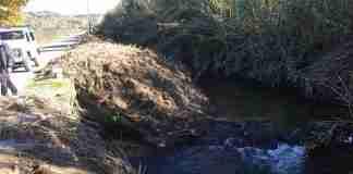 lo scarico abusivo nel torrente Budello