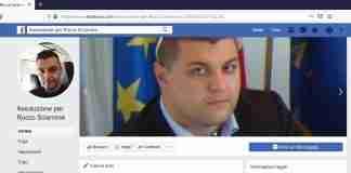 lo screenshot della pagina facebook