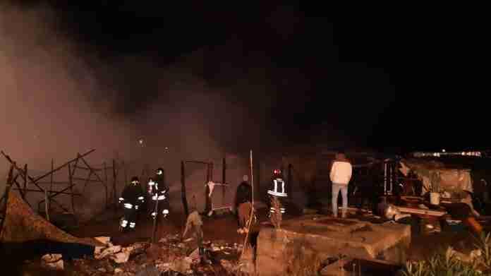 Incendio alla tendopoli febbraio 2019