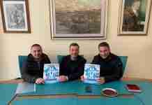 """Creazzo con i dirigenti dell'associazione sportiva """"La Madonnina"""""""