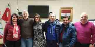 da sinistra Giannotta, Laganà, Logiacco, Sposato, Romano e Marino